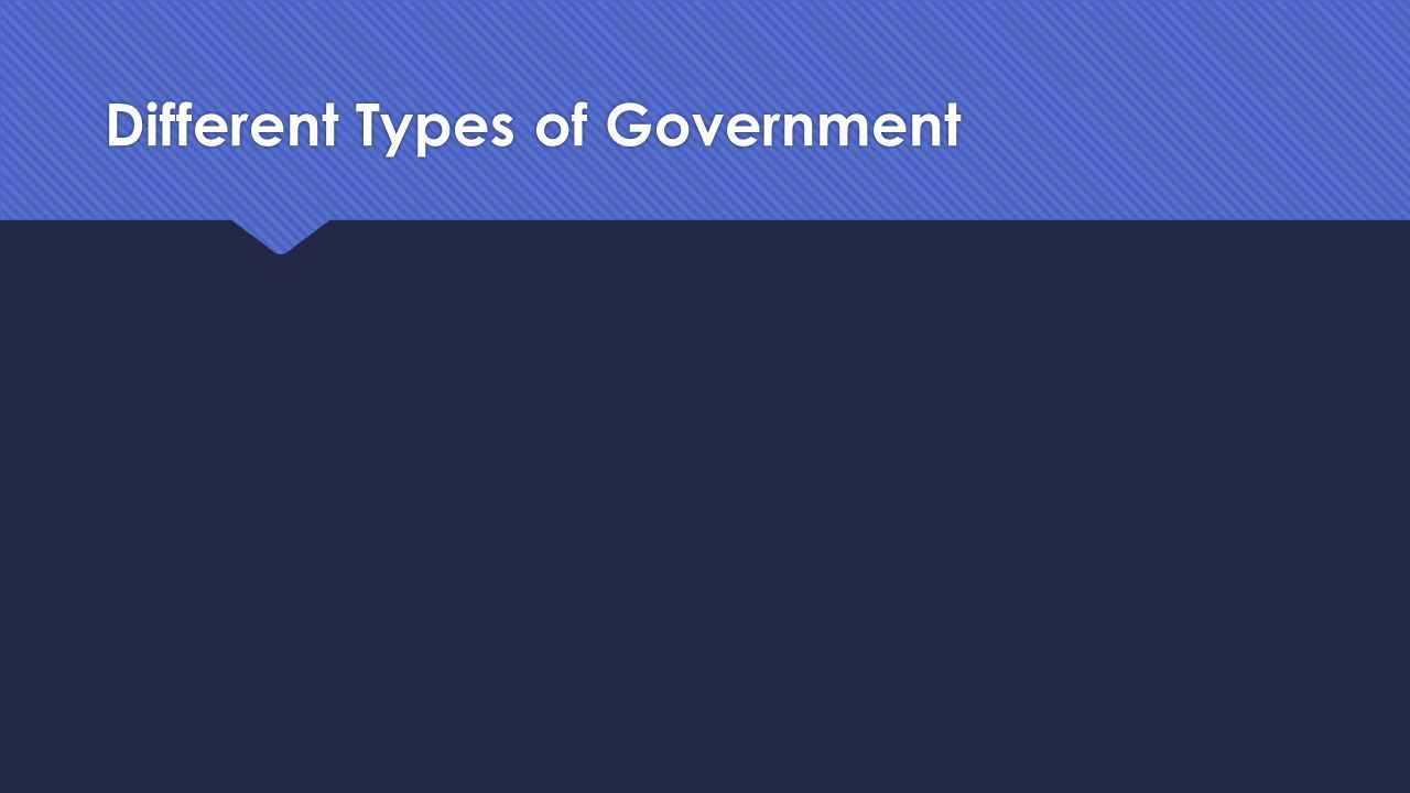Government  In your notes, write your own definition of Government