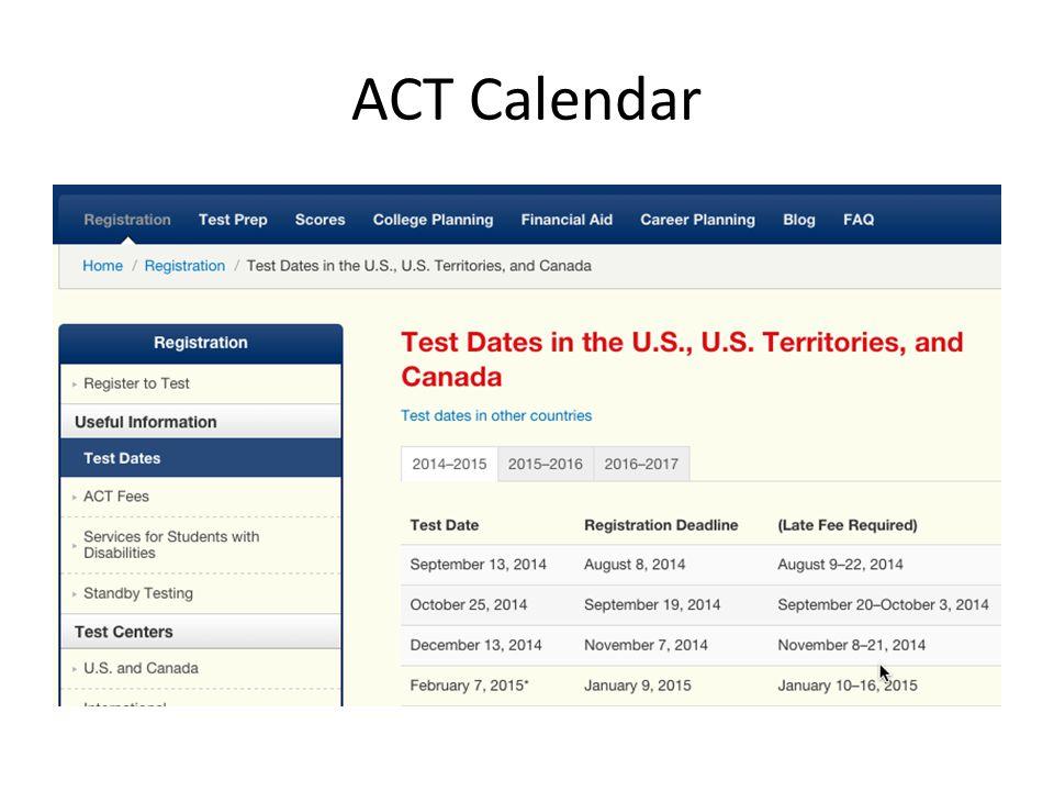 ACT Calendar