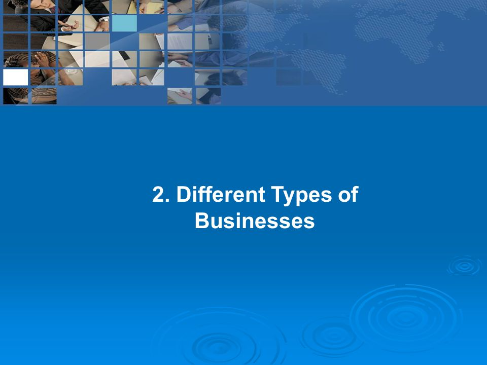 2. Different Types of Businesses
