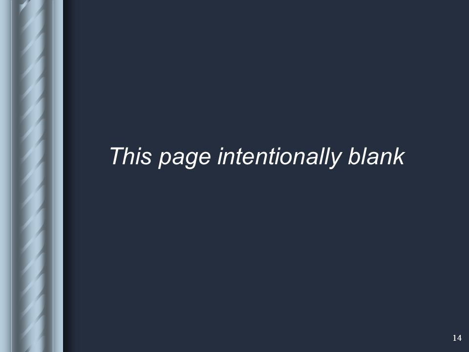 14 This page intentionally blank