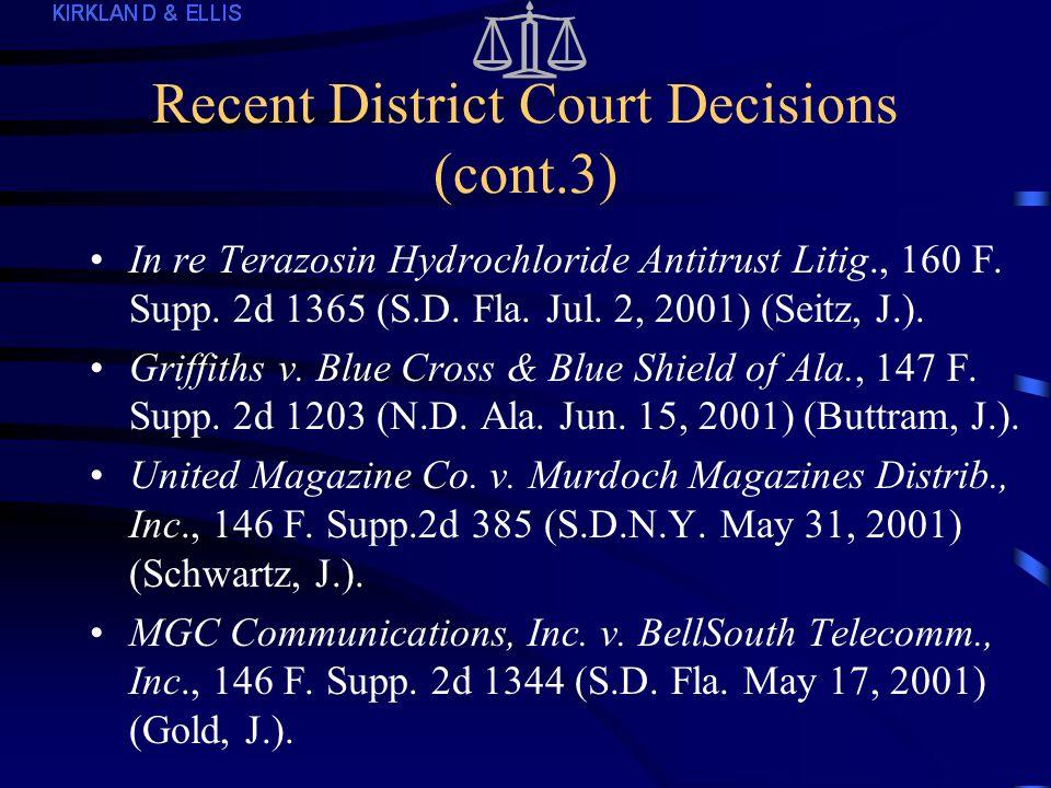 Recent District Court Decisions (cont.2) Eon Labs Mfg., Inc.