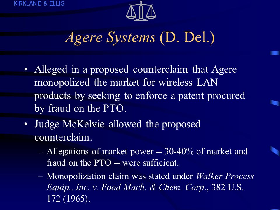 Intellective (cont.2) Allegations of attempting and conspiring to monopolize were sufficient: –Defendants engaged in anticompetitive conduct -- obtaining exclusive control over data needed to perform studies.