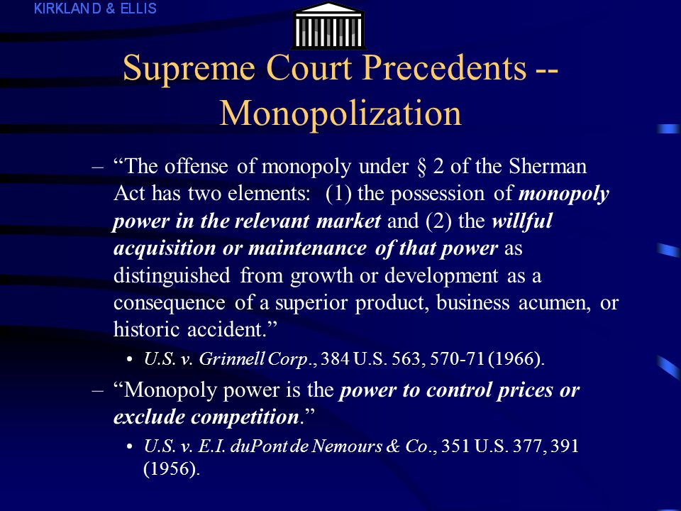 Statutory Provisions Section 2 of the Sherman Act, 15 U.S.C.