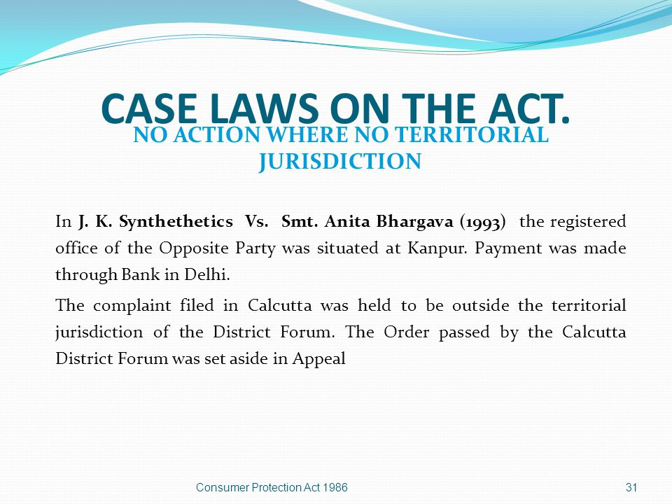 30 CASE LAWS ON THE ACT. PECUNIARY JURISDICTION  In Krishan Dass Chaurasia V.