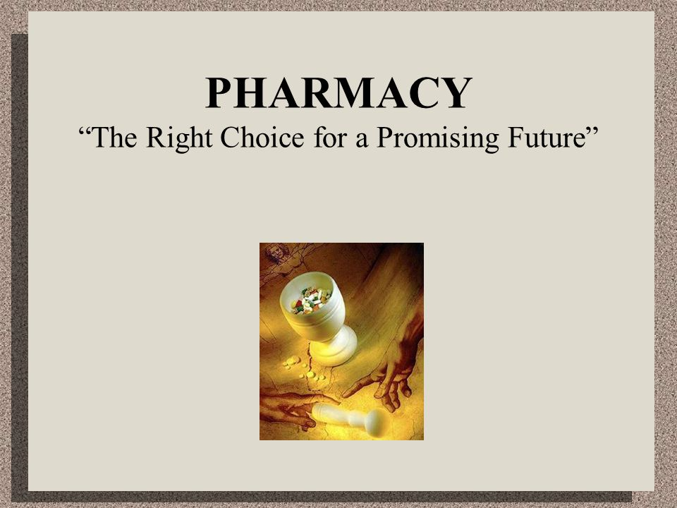 Hospitals and clinics  Hospital pharmacists  Clinical pharmacists Community pharmacy ( retail pharmacy ) Wholesale pharmacy Government services  Regulatory affairs  Drug testing laboratories  Drug purchasing & distribution  Military services