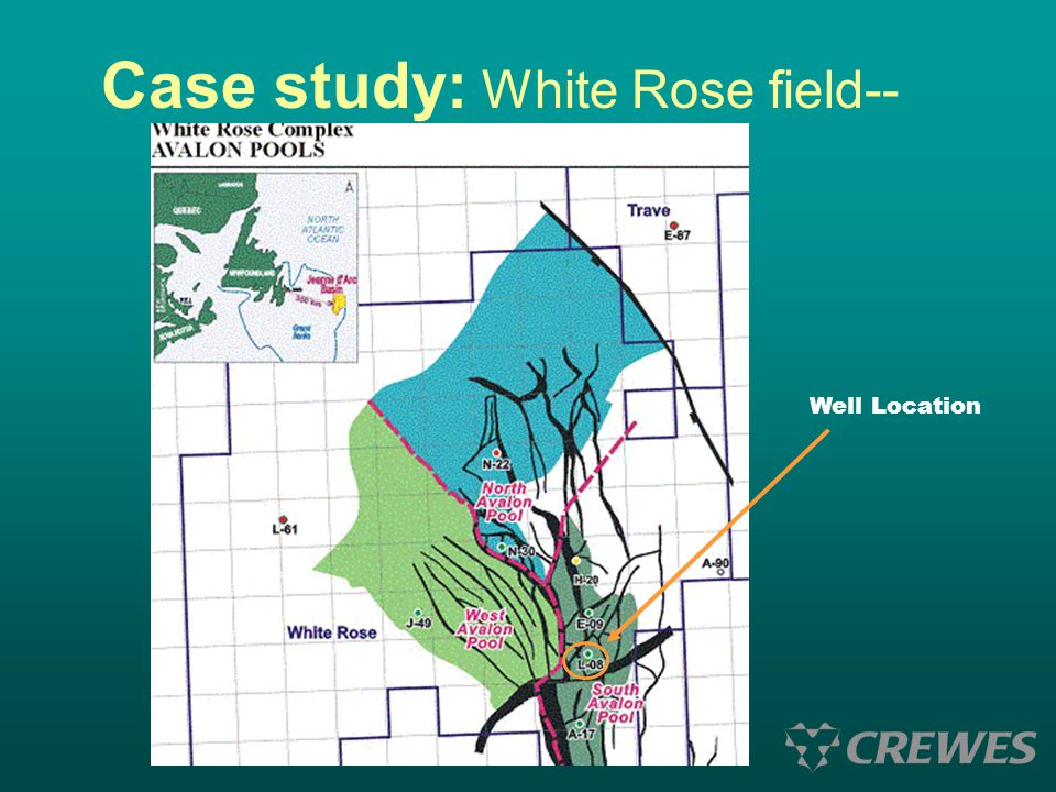Case study: White Rose field-- Well Location
