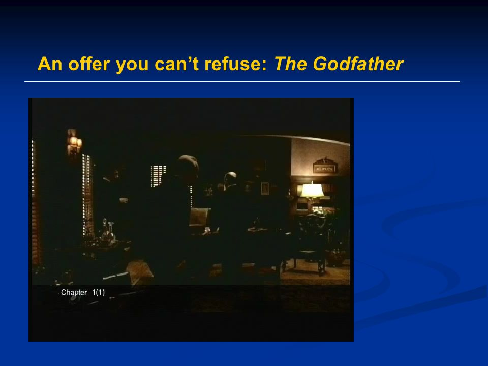 An offer you can't refuse: The Godfather