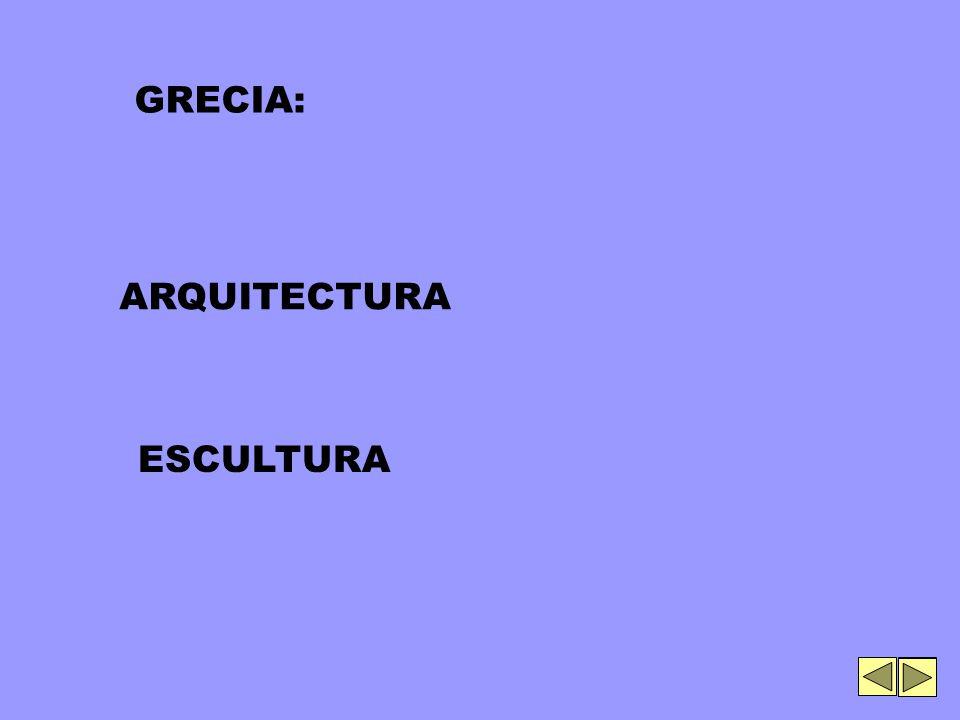 ARQUITECTURA ESCULTURA GRECIA: