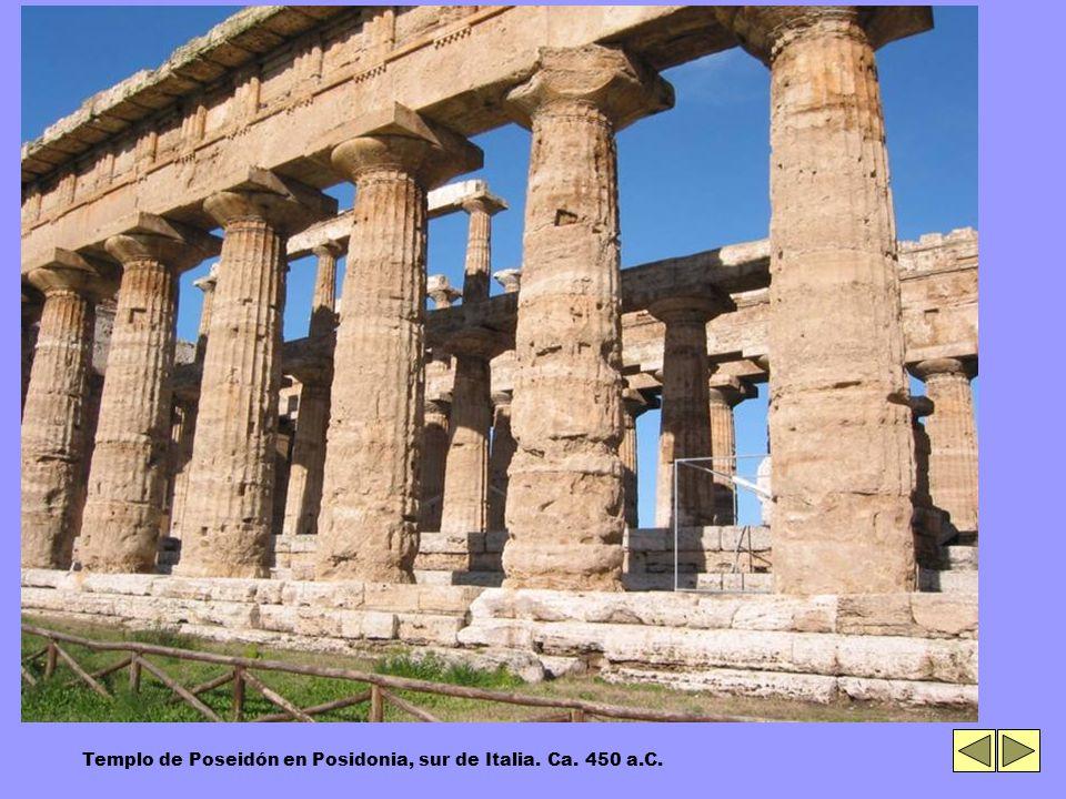 Templo de Poseidón en Posidonia, sur de Italia. Ca. 450 a.C.