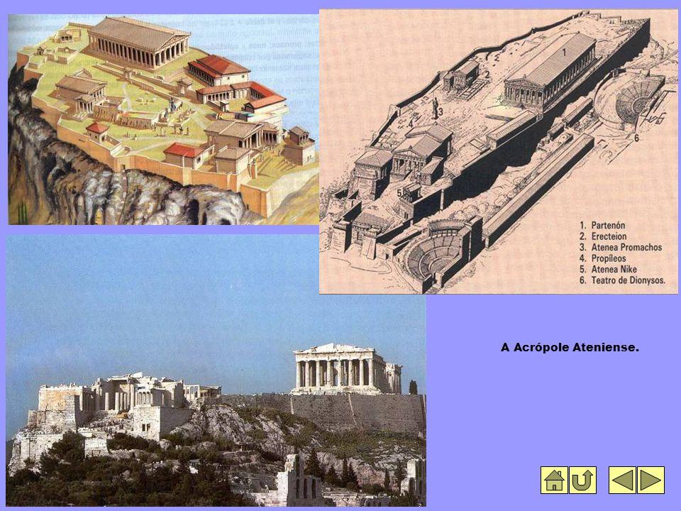A Acrópole Ateniense.