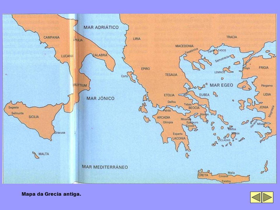 Mapa da Grecia antiga.