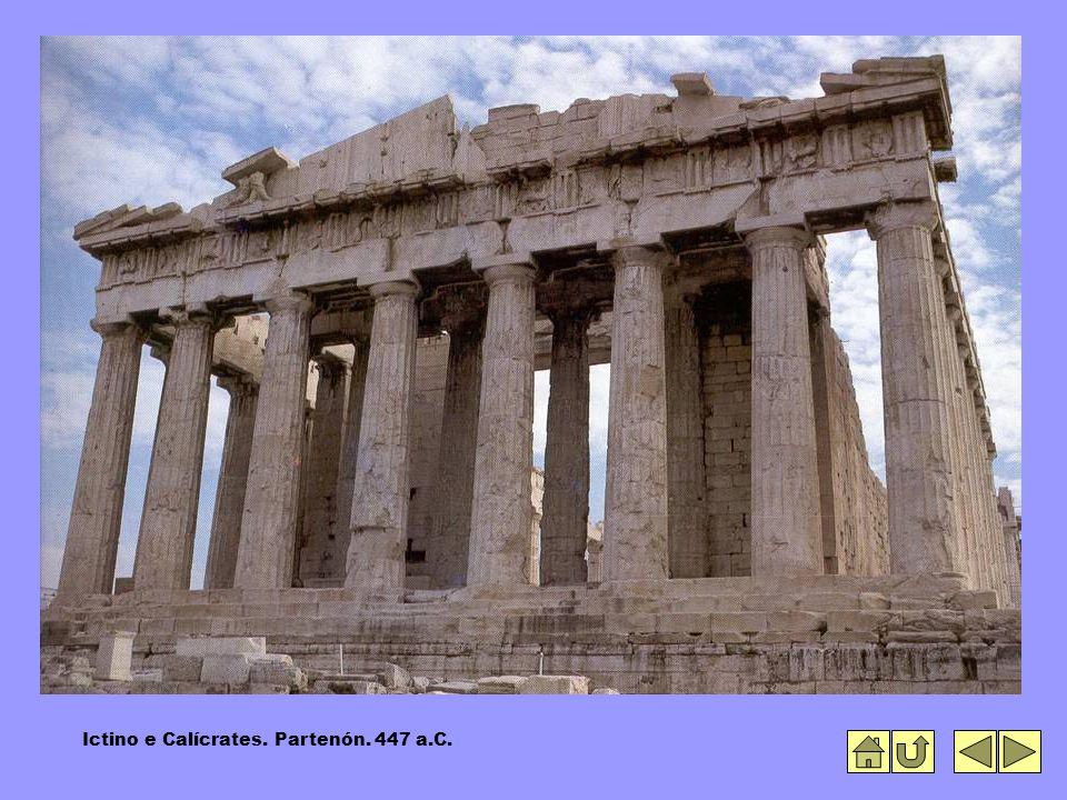 Ictino e Calícrates. Partenón. 447 a.C.