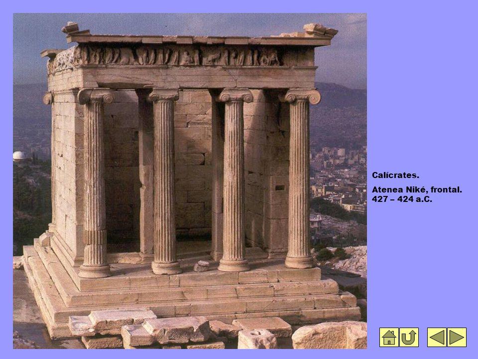 Calícrates. Atenea Niké, frontal. 427 – 424 a.C.
