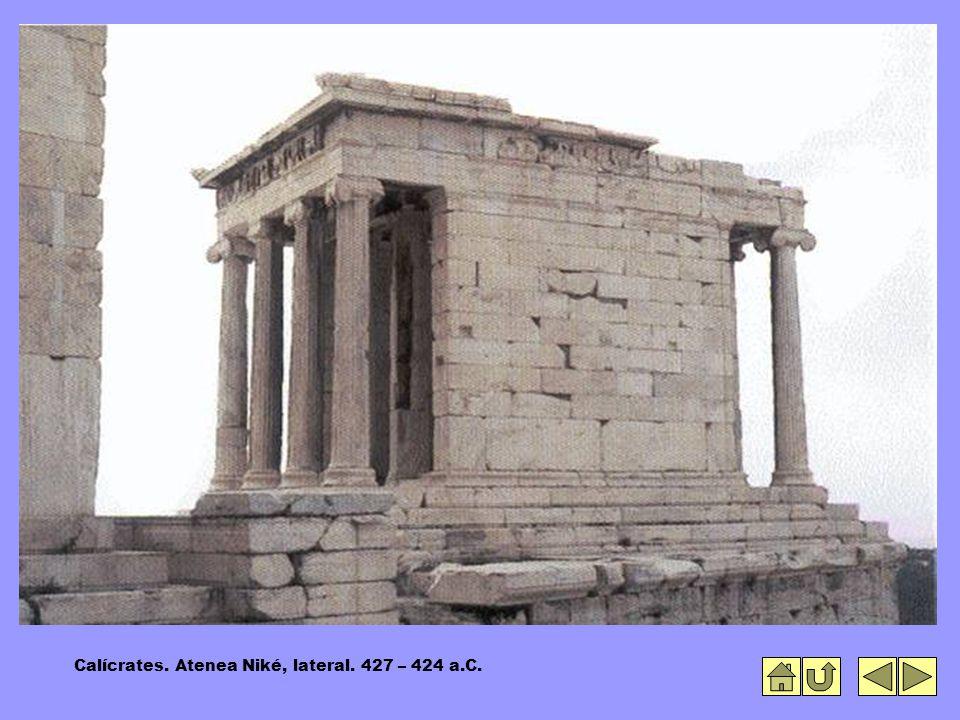 Calícrates. Atenea Niké, lateral. 427 – 424 a.C.