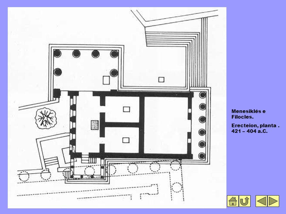Menesiklés e Filocles. Erecteion, planta. 421 – 404 a.C.