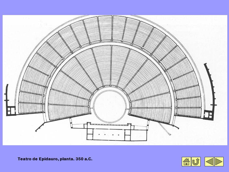 Teatro de Epidauro, planta. 350 a.C.