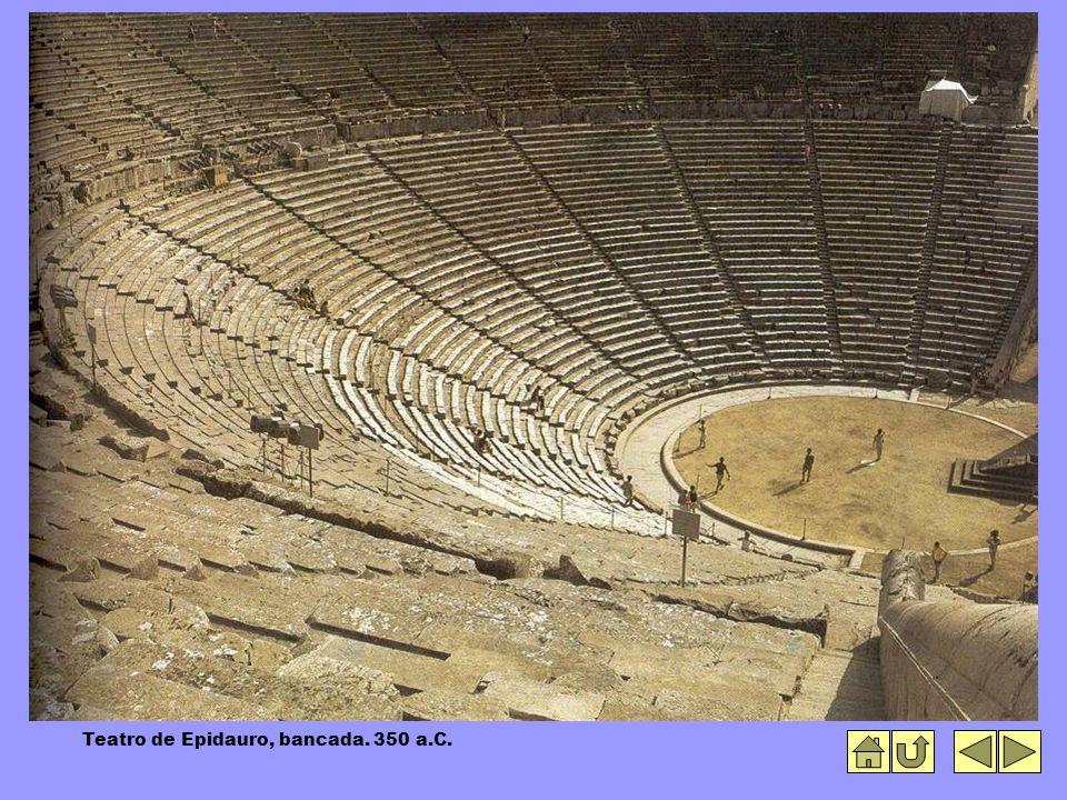Teatro de Epidauro, bancada. 350 a.C.