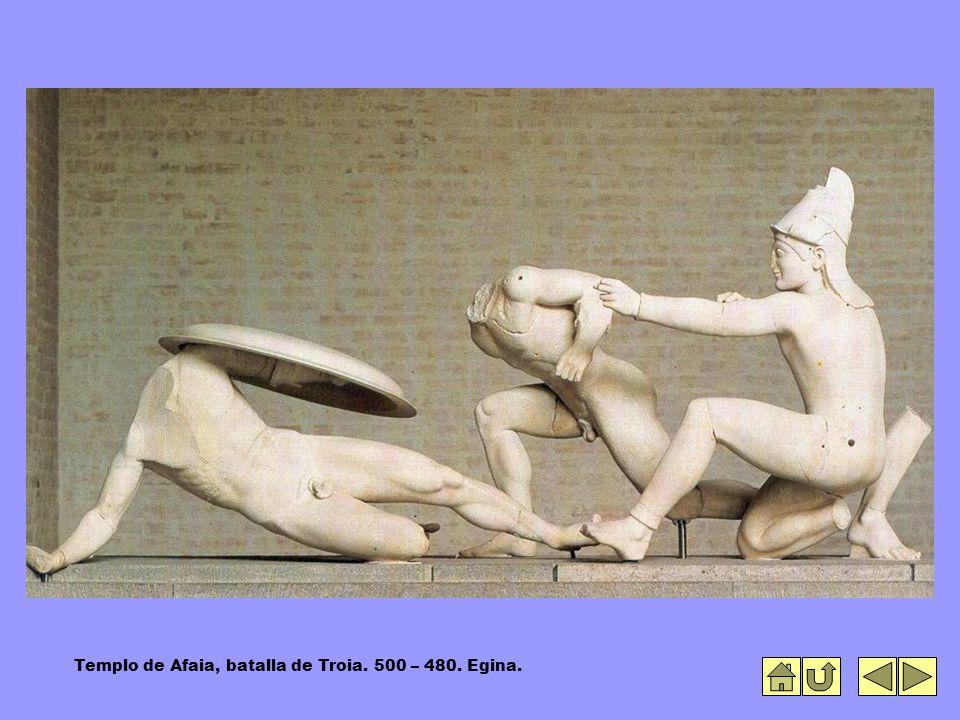 Templo de Afaia, batalla de Troia. 500 – 480. Egina.