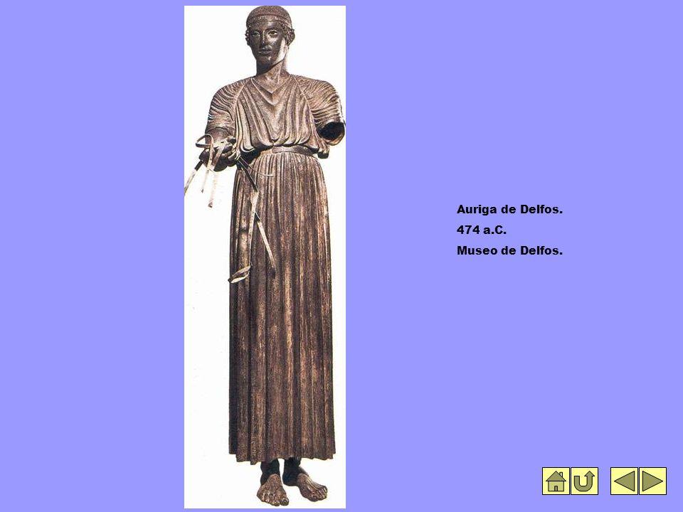Auriga de Delfos. 474 a.C. Museo de Delfos.