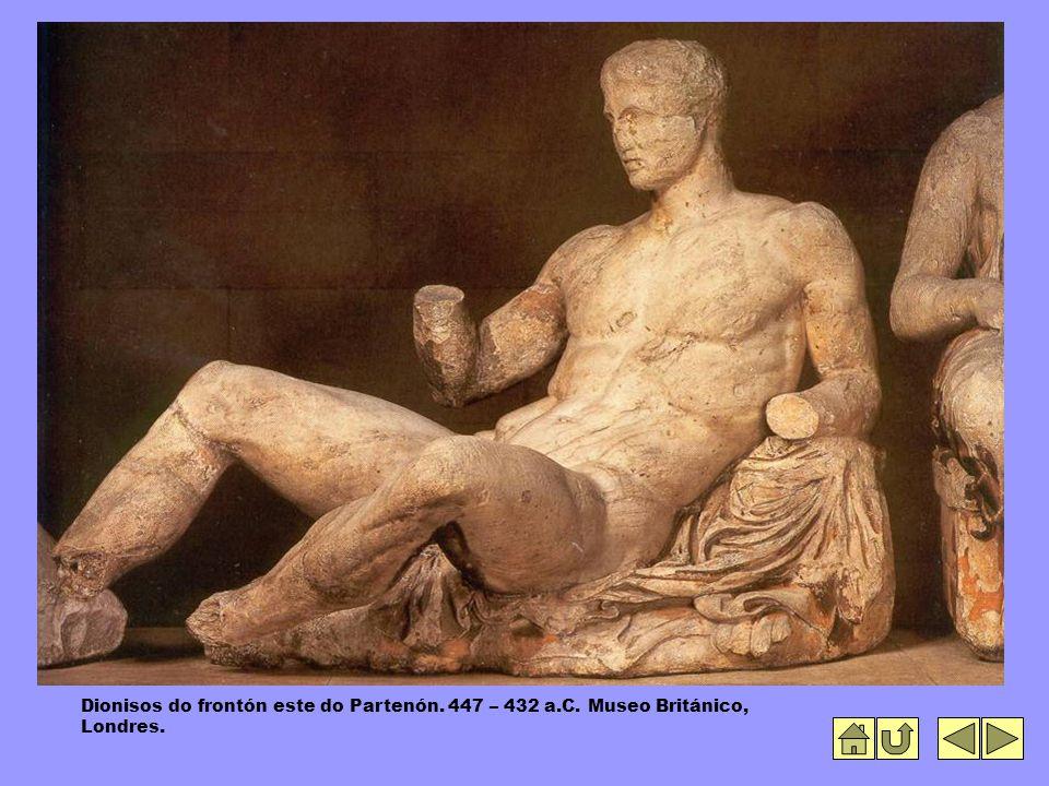 Dionisos do frontón este do Partenón. 447 – 432 a.C. Museo Británico, Londres.