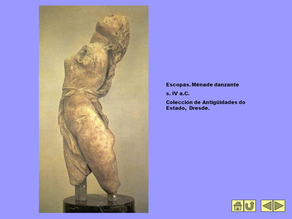 Escopas. Ménade danzante s. IV a.C. Colección de Antigüidades do Estado, Dresde.