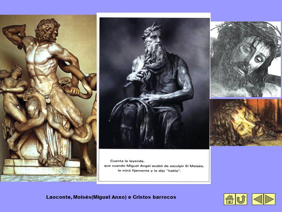 Laoconte, Moisés(Miguel Anxo) e Cristos barrocos