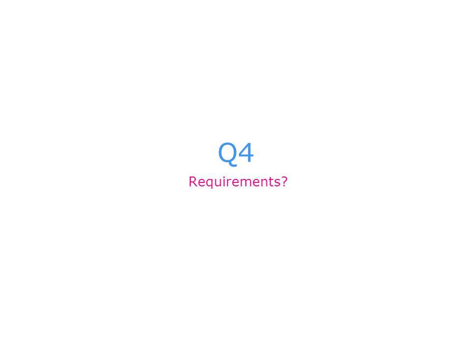 Q4 Requirements?
