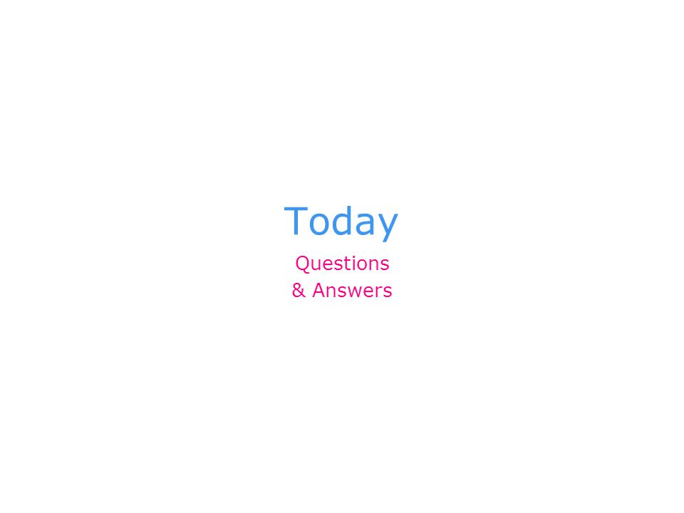 Q1 How long is today's class?