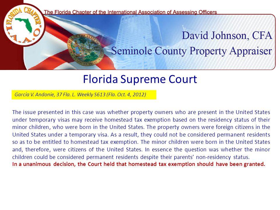 Florida Supreme Court Garcia V. Andonie, 37 Fla. L.