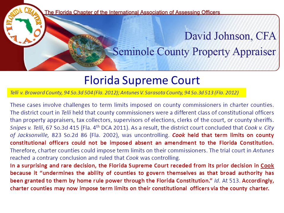 Florida Supreme Court Telli v. Broward County, 94 So.3d 504 (Fla.