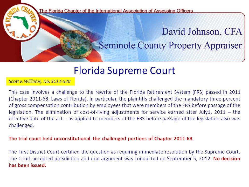 Florida Supreme Court Scott v. Williams, No.