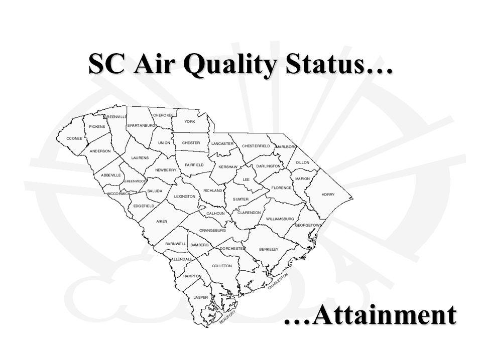 SC Air Quality Status… …Attainment