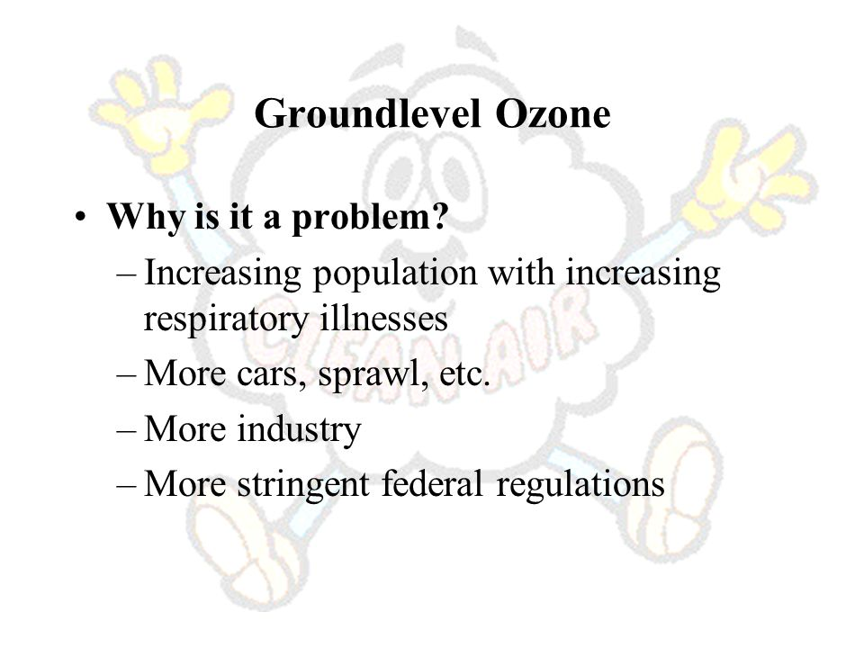Groundlevel Ozone Why is it a problem.