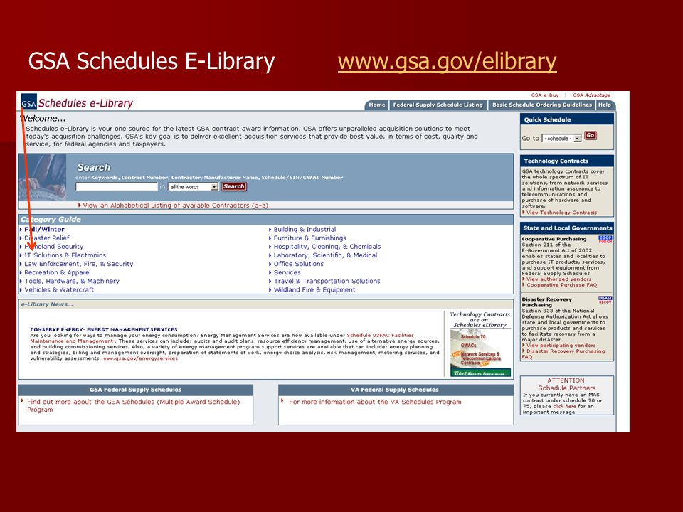GSA Schedules E-Library www.gsa.gov/elibrarywww.gsa.gov/elibrary