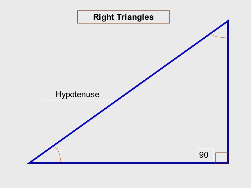 Right Triangles 90 Hypotenuse