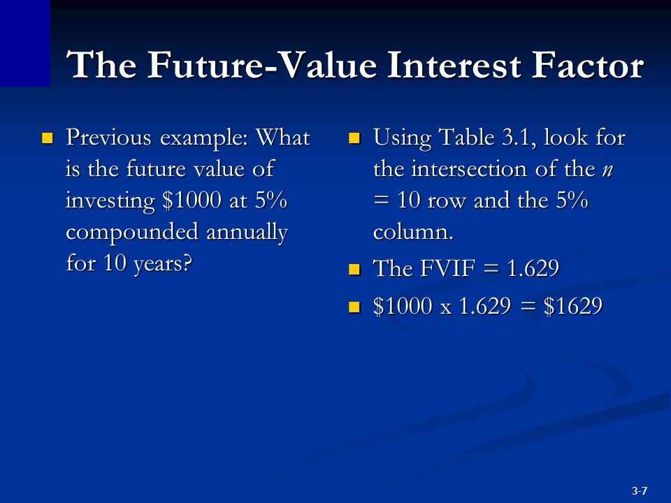 3-18 Present Value You've just seen that $500,000 payable 40 years from now, with a discount rate of 6%, is worth $48,500 in today's dollars.