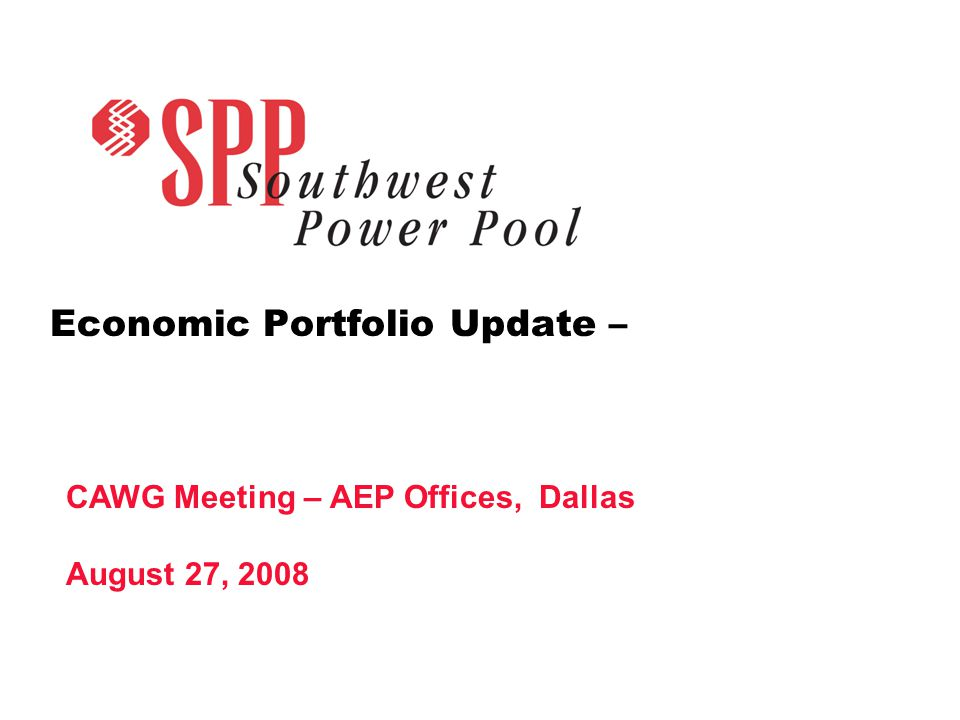 SPP.org 3 Portfolios - Review Portfolio 3 is associated with wind levels beyond the 2,600 MW in 2008 Previous Analysis 1.(April, 2008) show strong benefits for generic wind growth modeled at 7 GW in the SPP footprint.