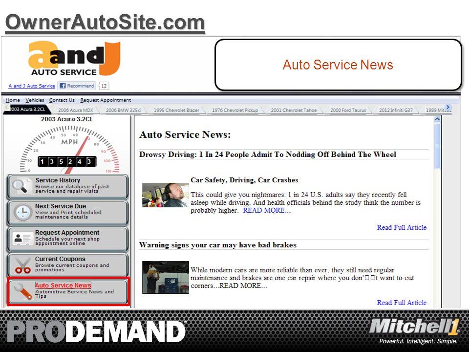 13OwnerAutoSite.com Auto Service News
