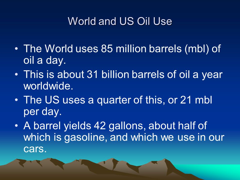 US and World Natural Gas US demand growth is 3% per year.