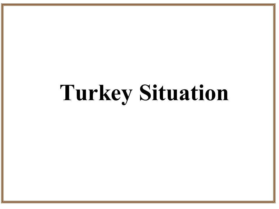 Turkey Situation