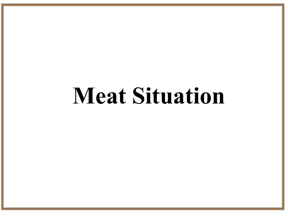 Meat Situation