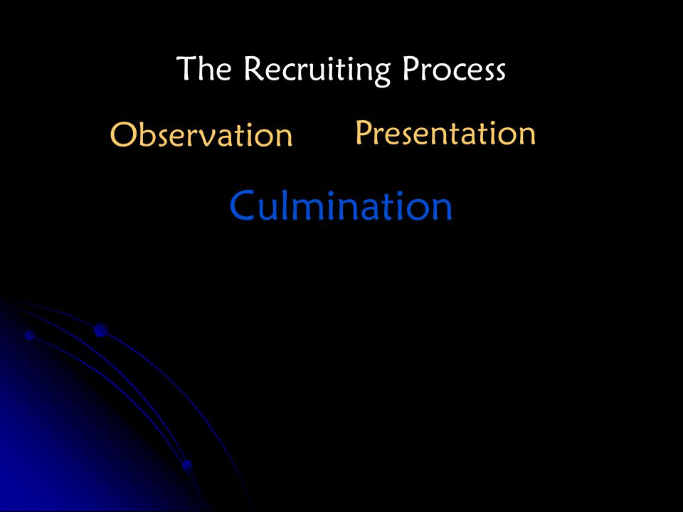 The Recruiting Process Observation Presentation Culmination