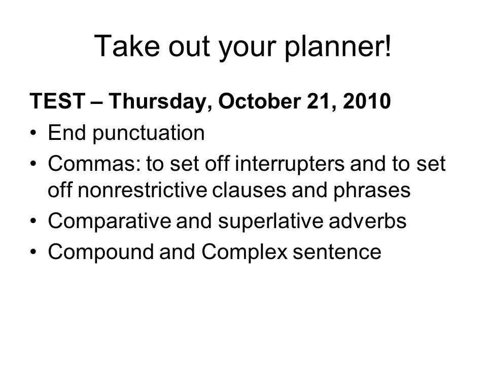 Comparative and Superlative Adverbs 10.14.10