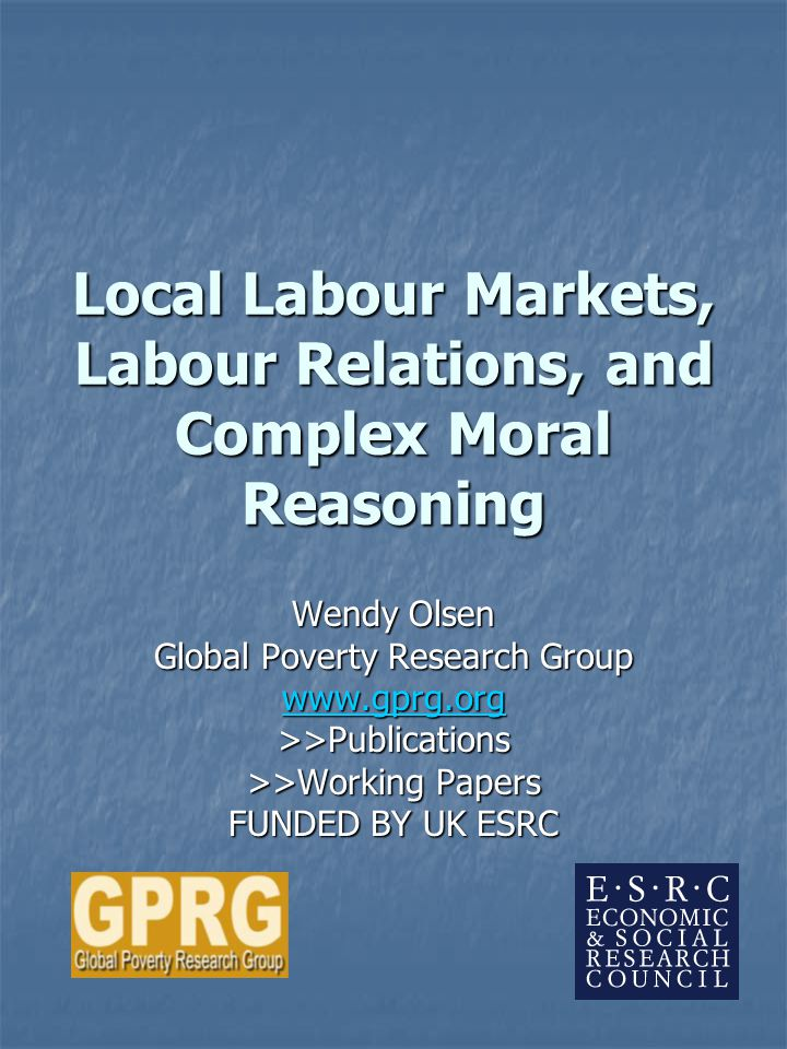 2 Local Labour Markets and Tenancy Class relations Class relations Locality-specific class-caste nexus and agroclimatic conditions Locality-specific class-caste nexus and agroclimatic conditions Religion is variegated over space, too Religion is variegated over space, too Civil society and social networks are village-specific (two village studies) Civil society and social networks are village-specific (two village studies) Contracts are flexible, negotiated, bargained in a class context Contracts are flexible, negotiated, bargained in a class context