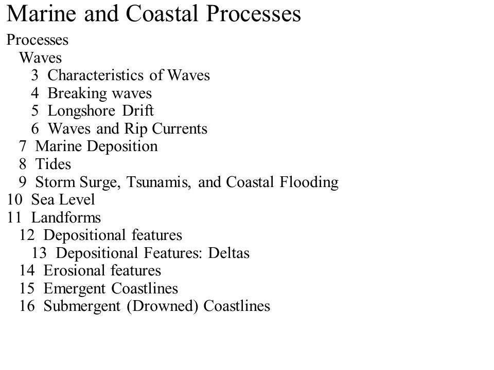 Characteristics of Waves Waves are not currents.