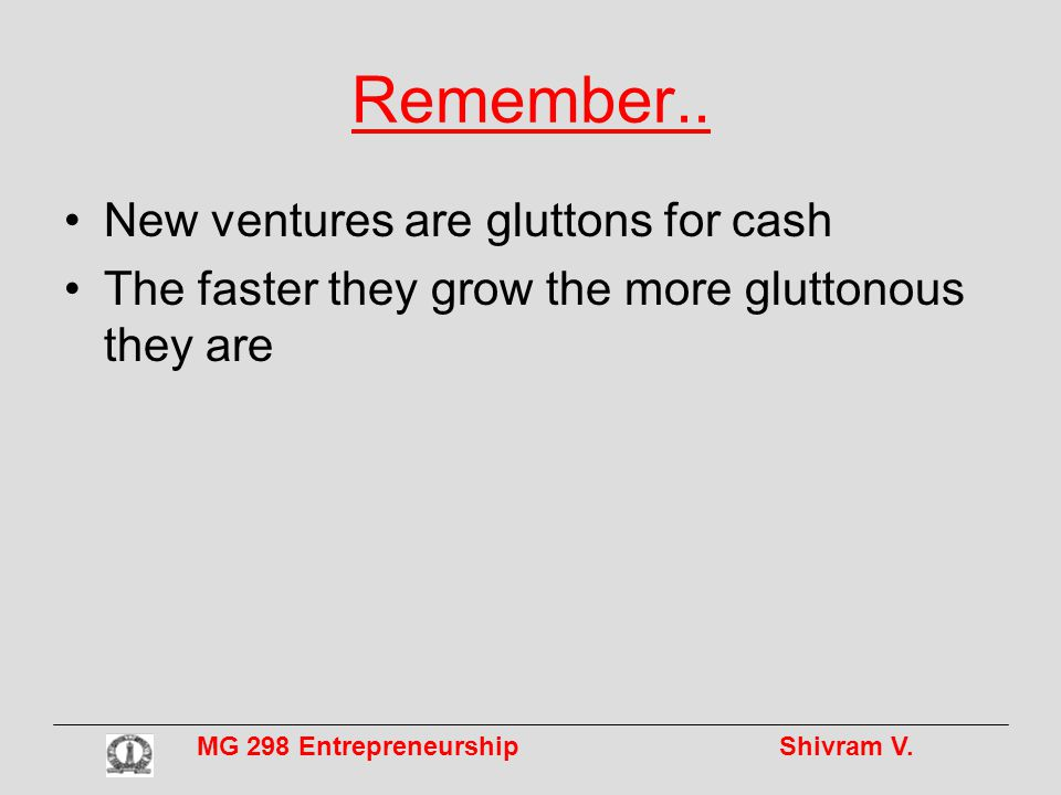 MG 298 Entrepreneurship Shivram V.Remember..