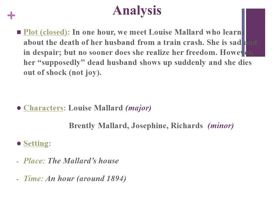 character analysis of louise mallard