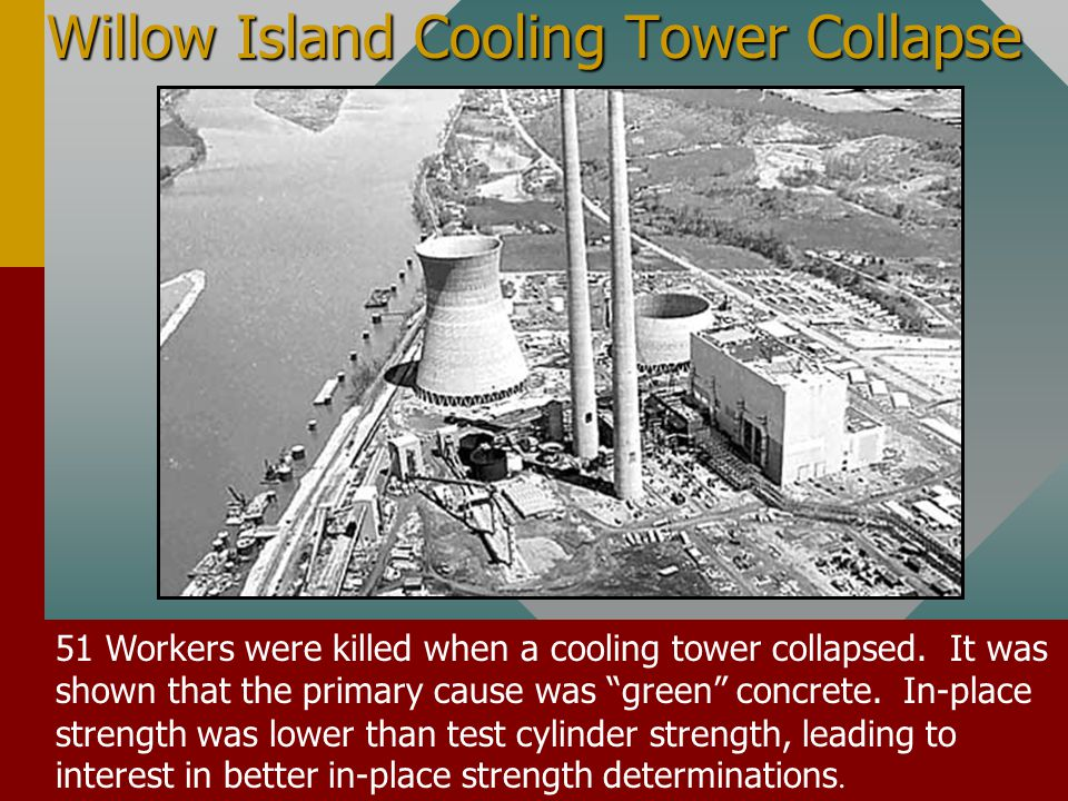 Willow Island Cooling Tower Collapse 51 Workers were killed when a cooling tower collapsed.