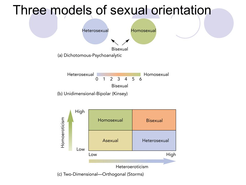 Three models of sexual orientation