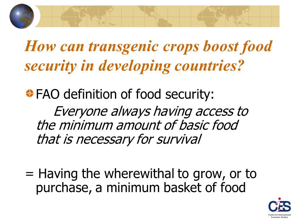 Third case study: Prospective effects of Golden rice adoption by developing countries